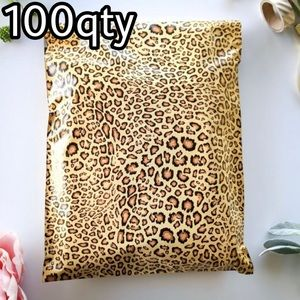 """100 poly mailers leopard print size 10""""x13"""""""